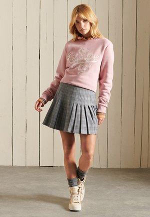A-line skirt - grey check