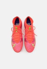 Nike Performance - MERCURIAL 8 PRO AG - Fodboldstøvler m/ faste knobber - bright crimson/metallic silver - 3