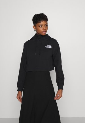 TREND CROP DROP HOODIE - Sweatshirts - black