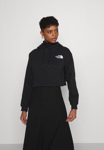 TREND CROP DROP HOODIE - Sweatshirt - black