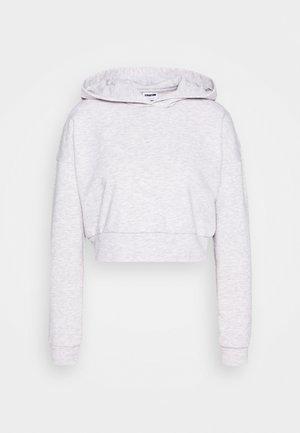 NMLUPA CROP HOOD - Sweatshirt - light grey melange