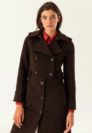 Classic coat - dark chocolate