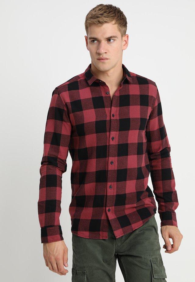 ONSGUDMUND CHECKED - Camisa - maroon