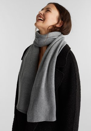 STRICK AUS RECYCELTEM GARN - Scarf - light grey