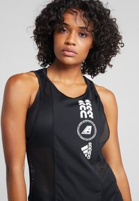 adidas Performance - CLIMACOOL WORKOUT GRAPHIC TANK - Top - black - 4