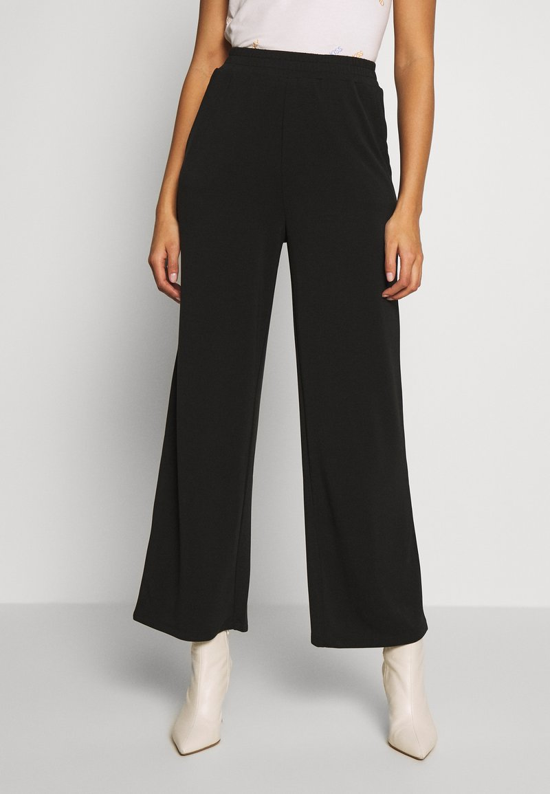 ONLY - ONQGAIA WIDE PANT - Trousers - black
