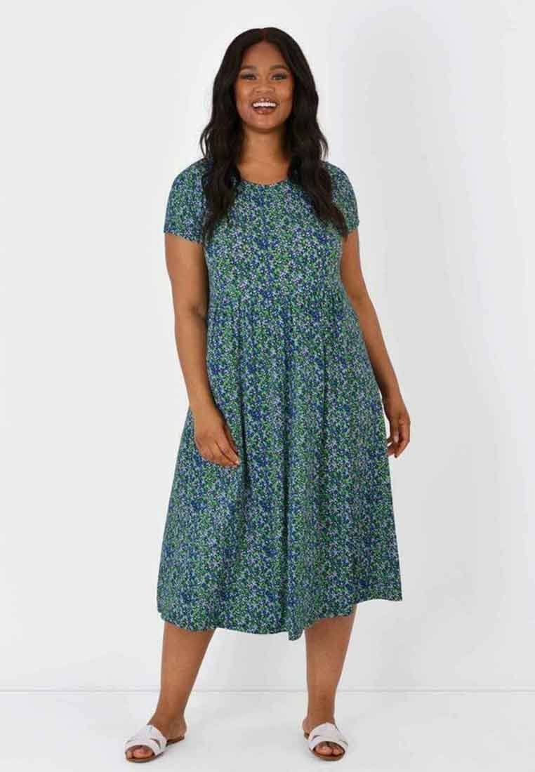 Live Unlimited London - DITSY  - Jersey dress - green