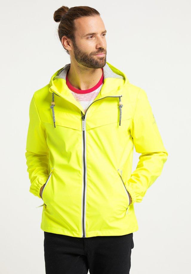 veste en sweat zippée - neon gelb