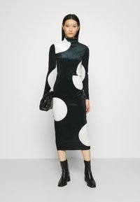 Who What Wear - MOCK NECK - Long sleeved top - black/white - 1
