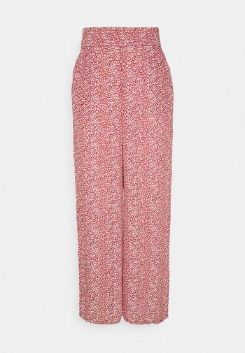 BEACHY WIDE LEG PANT - Trousers - cinnabar