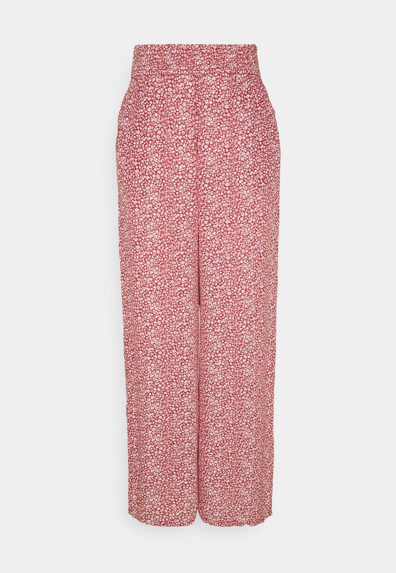 Hollister Co. - BEACHY WIDE LEG PANT - Trousers - cinnabar
