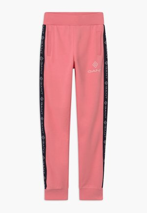 LOCK UP STRIPE - Tracksuit bottoms - strawberry pink