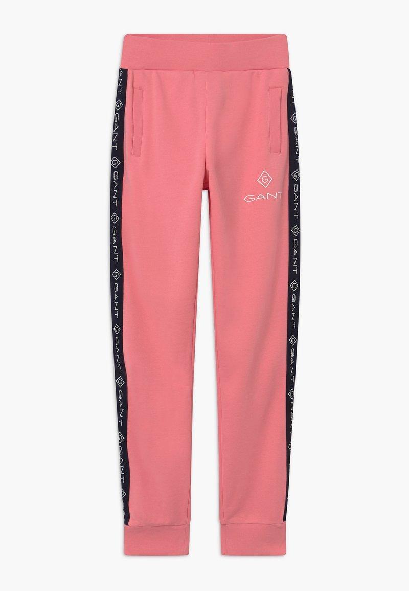 GANT - LOCK UP STRIPE - Tracksuit bottoms - strawberry pink