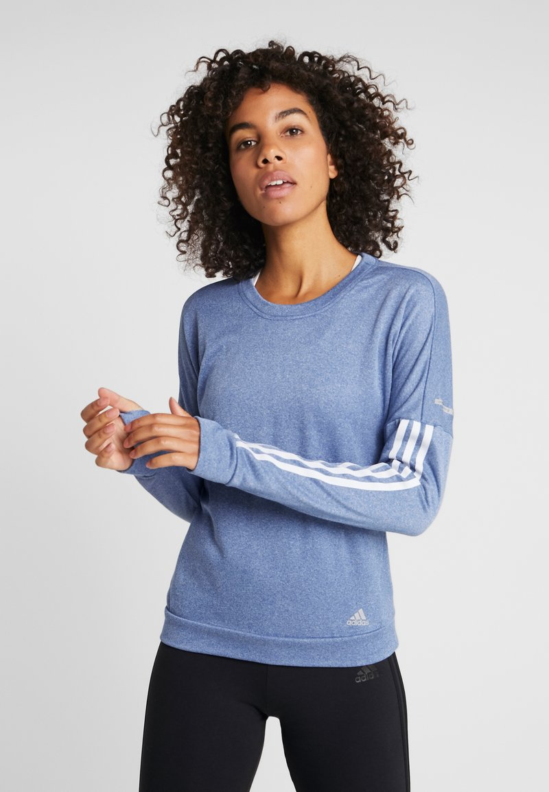 adidas Performance - CLIMALITE RUNNING LONG SLEEVE PULLOVER - Sudadera - croyal