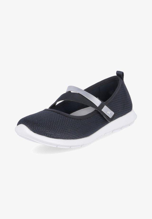 Ankle strap ballet pumps - dunkel blau