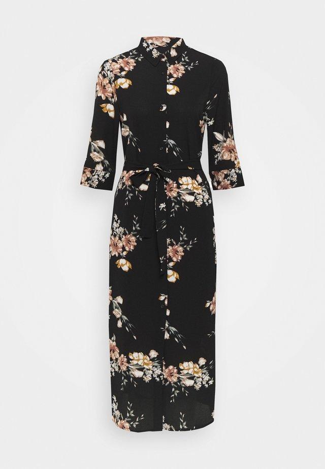 ONLNOVA LUX  SHIRT DRESS - Skjortklänning - black