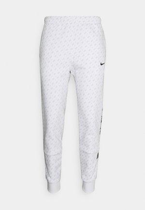 REPEAT PRINT - Jogginghose - white/black