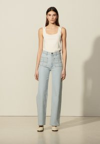 sandro - Relaxed fit jeans - bleached denim - 0