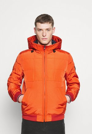 ROPE DYE HOODED BOMBER - Light jacket - orange