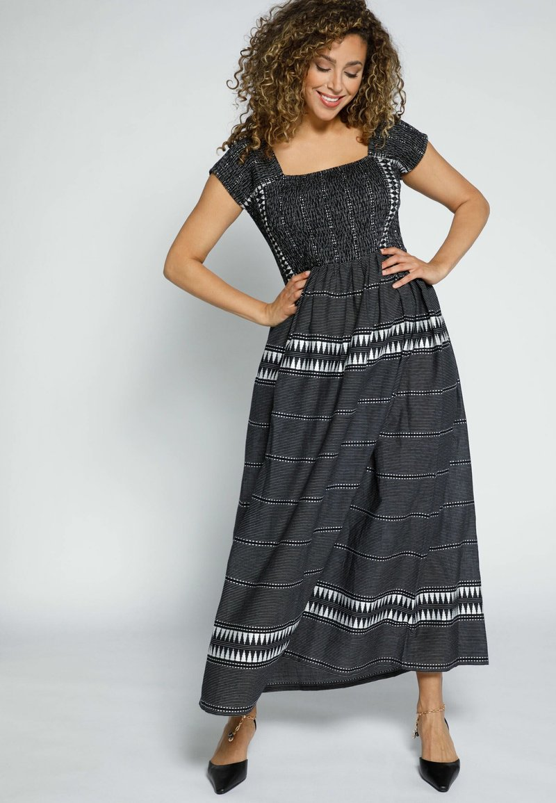 Ulla Popken - POPKEN - Maxi dress - schwarz-weiß