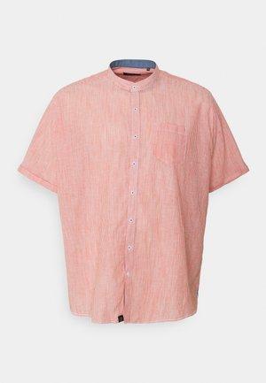 MANDARIN STRIPED SHIRT - Skjorta - orange