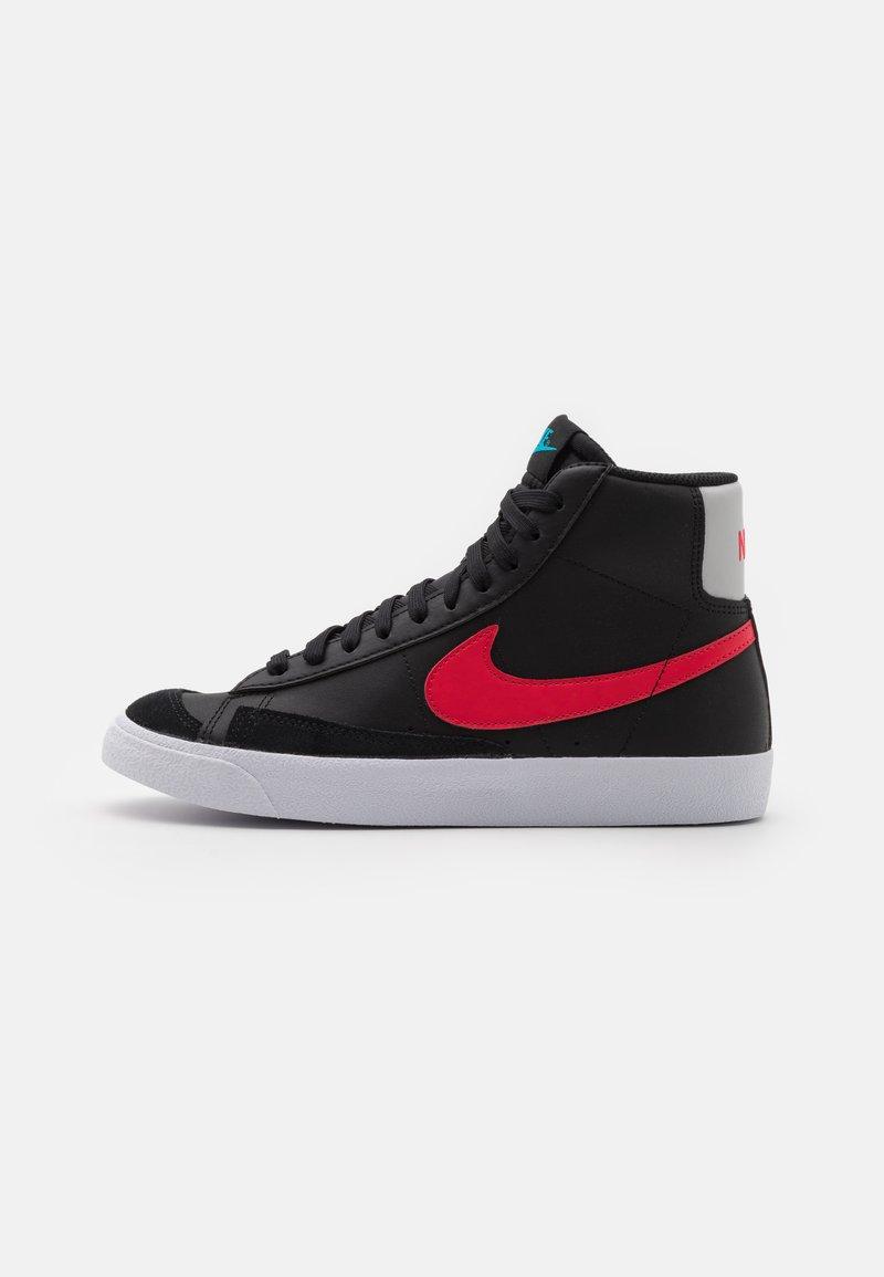 Nike Sportswear - BLAZER MID - Zapatillas altas - black/fusion red/light blue fury/grey fog