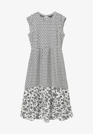Day dress - multi/oyster white