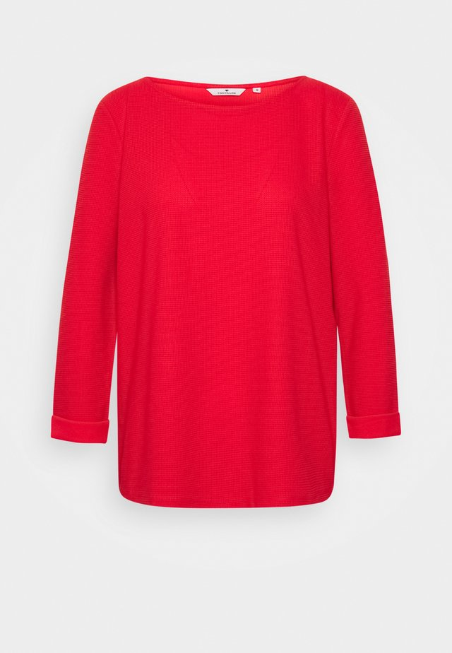 STRUCTURE CREW NECK - Long sleeved top - strong red