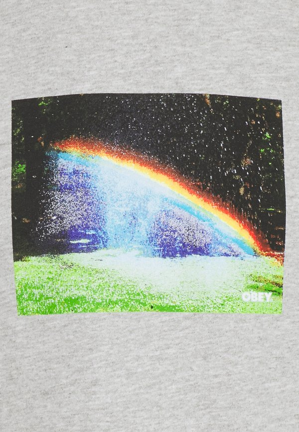Obey Clothing RAINBOW - T-shirt z nadrukiem - heather grey/szary melanż Odzież Męska YHTW