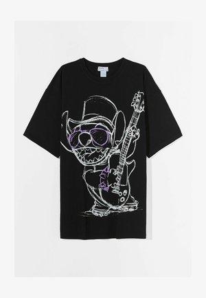 STITCH - Print T-shirt - black