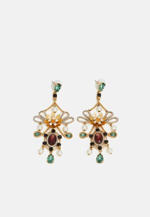 MIA STATEMENT EARRINGS - Boucles d'oreilles - gold-coloured/alhambra green