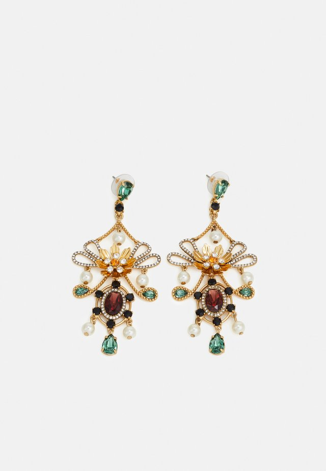 MIA STATEMENT EARRINGS - Earrings - gold-coloured/alhambra green