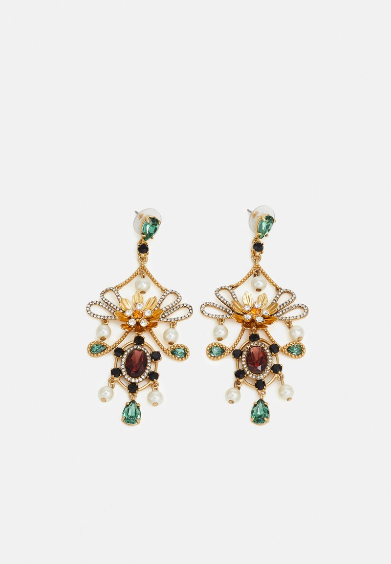 J.CREW - MIA STATEMENT EARRINGS - Boucles d'oreilles - gold-coloured/alhambra green