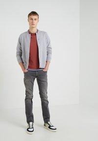 J.LINDEBERG - JASPER  STRUCTURE - Zip-up hoodie - grey melange - 1