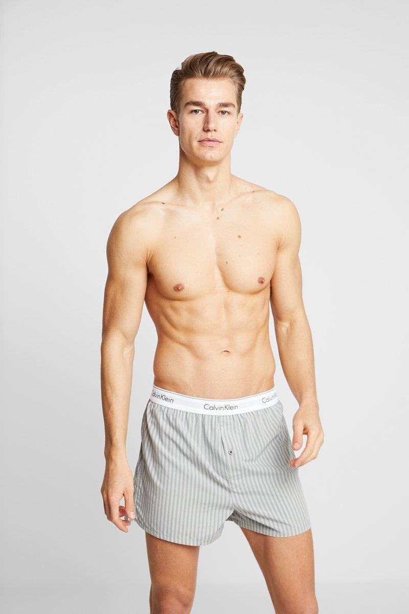 Calvin Klein Underwear - SLIM FIT 2 PACK - Bokserki - grey