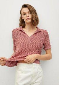 Mango - Print T-shirt - rosa - 0