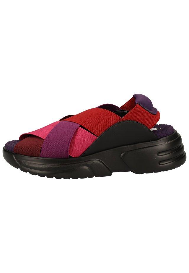 SANDALEN - Sandalen met plateauzool - dark rosso ex095