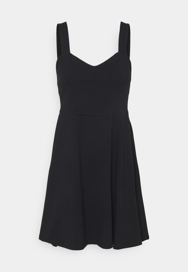 PCANG STRAP DRESS - Jerseyklänning - black