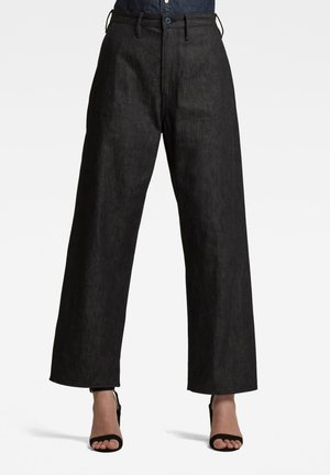 LINTER HIGH DAD - Straight leg jeans - pitch black