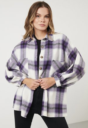 LELA OVERSIZED LONG SLEEVE - Button-down blouse - purple