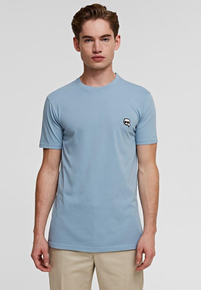 KARL LAGERFELD - IKONIK - Basic T-shirt - light blue