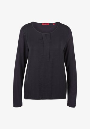 MIT PLISSEE-DETAIL - Blouse - navy