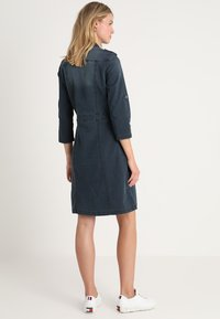 Cream - UNIFORM DRESS - Denim dress - royal navy blue - 2