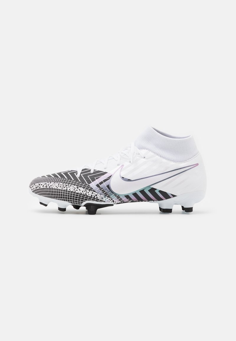 Nike Performance - MERCURIAL 7 ACADEMY MDS FG/MG - Moulded stud football boots - white/black