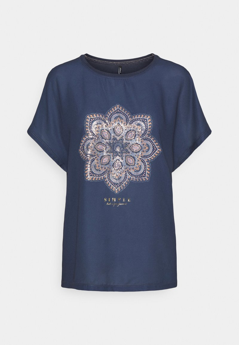 ONLY - ONLARIA BOX - T-shirts med print - ombre blue