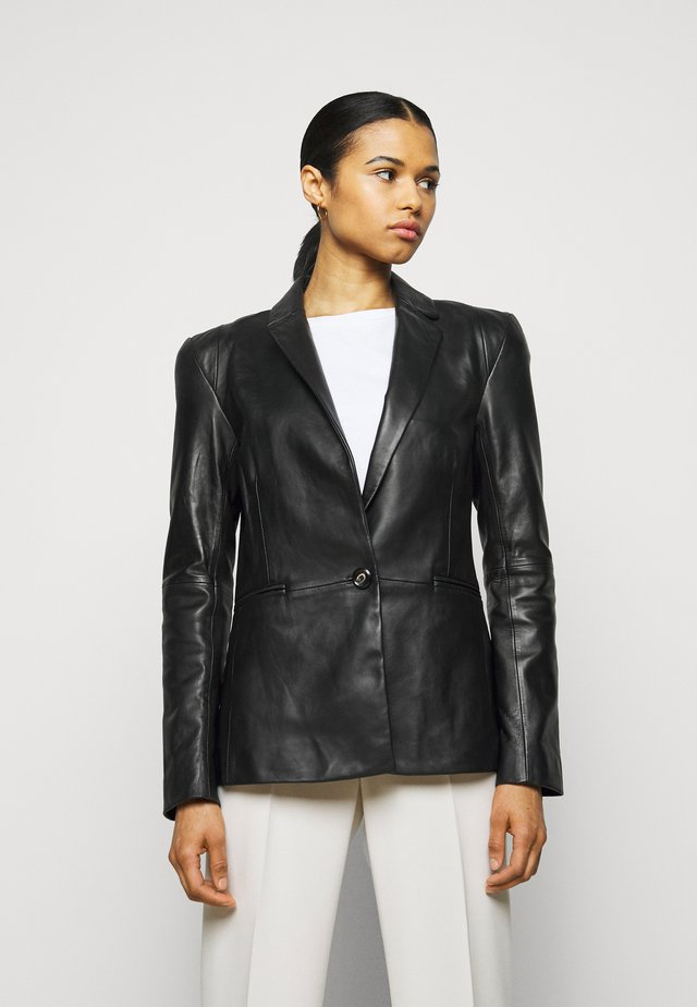 MILLER - Leren jas - black