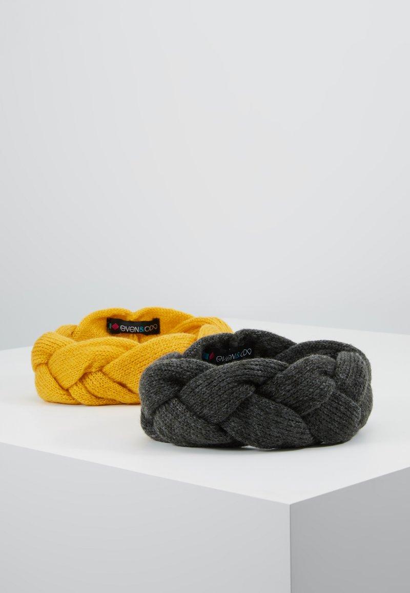 Even&Odd - 2 PACK - Ear warmers - dark gray/yellow