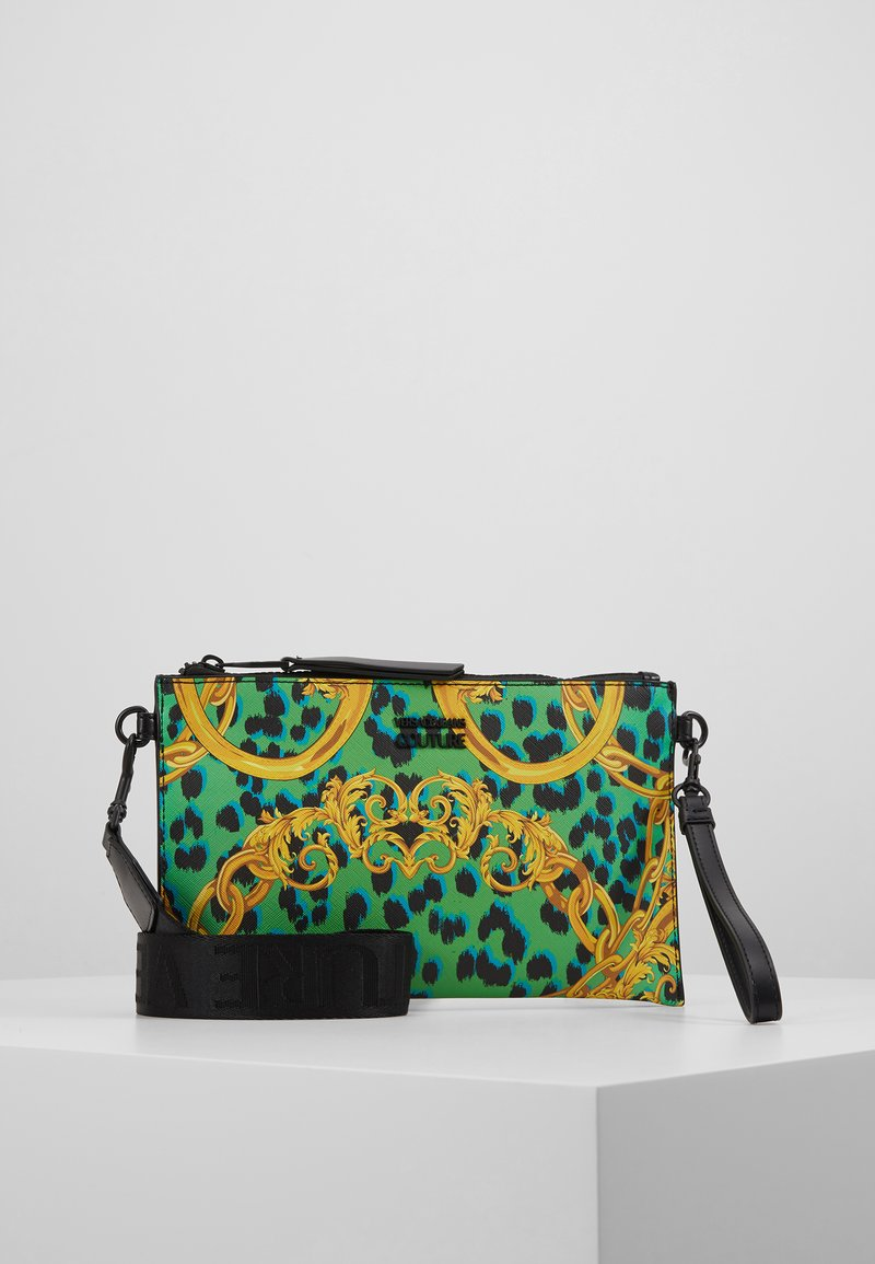 Versace Jeans Couture - LEOPARD BAROQUE POUCH - Clutch - frog