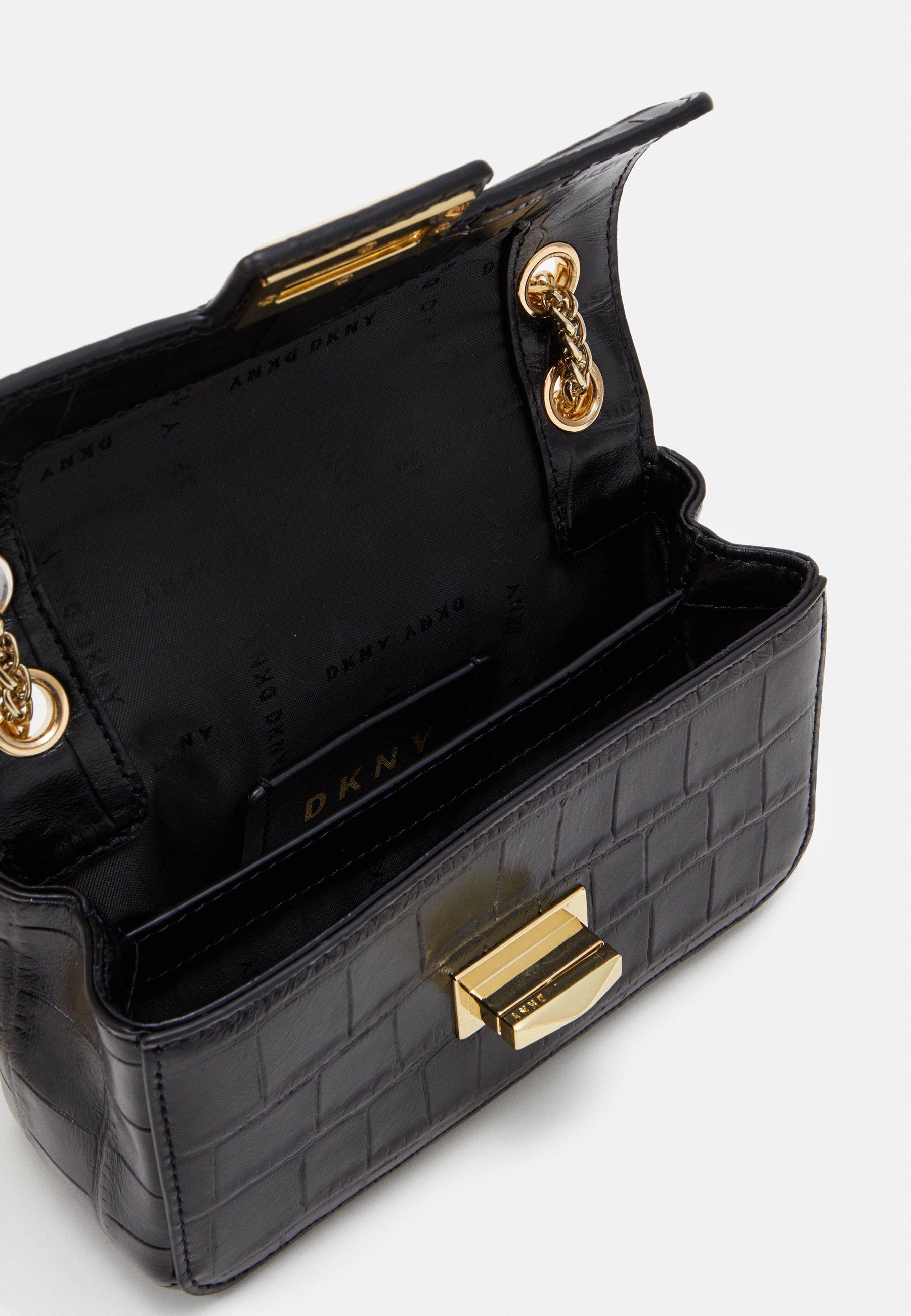 Accessori,Gioielli,Borse & Beauty care DKNY JOJO SMALL FLAP CBODY Borsa a tracolla black/gold