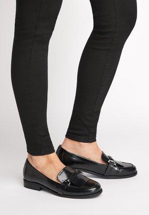 NAVY HARDWARE LOAFERS - Scarpe senza lacci - black